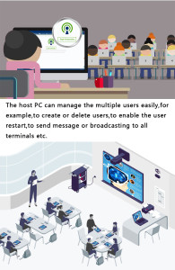 Sharing tampilan server untuk clien yang cocok di gunakan saat presentasi